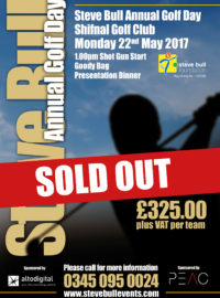 Steve Bull Annual Golf Day 2017 – Sold Out