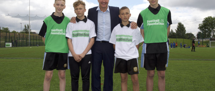 Wolves legend Steve Bull MBE unveils new all-weather pitch in Walsall