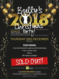 Bully's 2018 Christmas Party – SOLD OUT