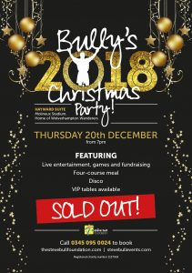 Bully's 2018 Christmas Party - SOLD OUT