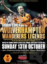 Sunday Lunch with the Wolverhampton Wanderers Legends