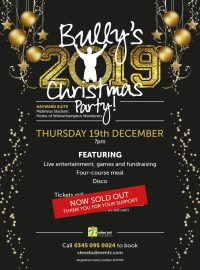 Bully's 2019 Christmas Party – SOLD OUT