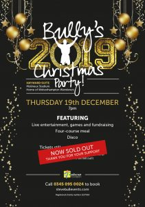 Bully's 2019 Christmas Party - SOLD OUT